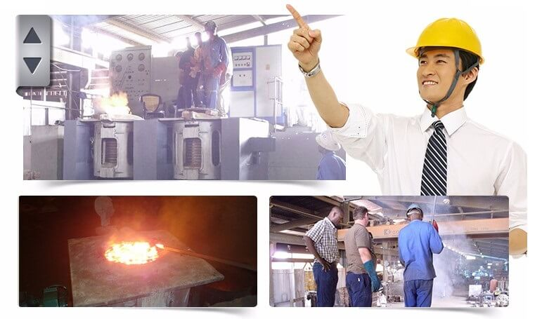 aluminum-frame-induction-furnace-working-onsite