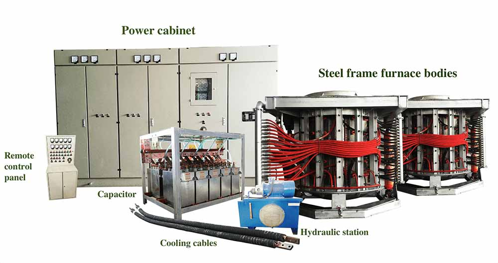 whole set of steel melting furnace