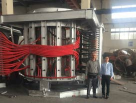 Customer from Iran 20t steel shell melting furnace