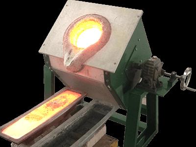 Tilting Metal Melting Furnace For 10 80kg Superb