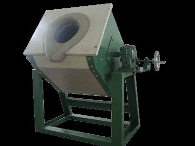 Tilting Metal Melting Furnace For 10 80kg Metals Melting
