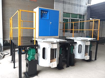 aluminum shell induction melting furnace for foundry