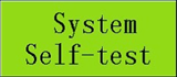 button of system self-test