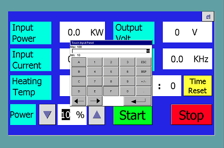 setting PLC control panel