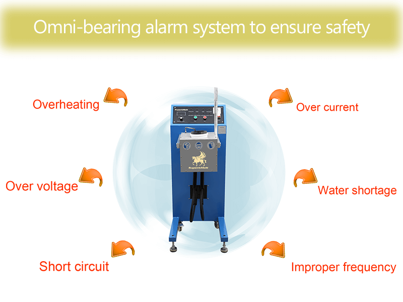 omnibearing alarm system of gold melting equipment