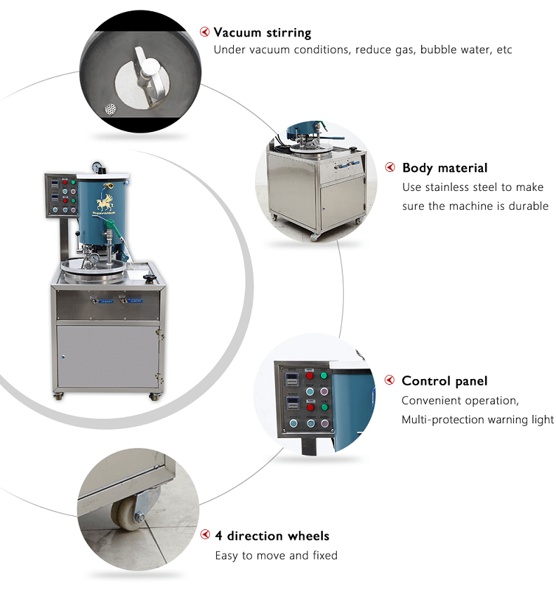 Vacuum Investment Powder Mixer For Jewelry Casting Line