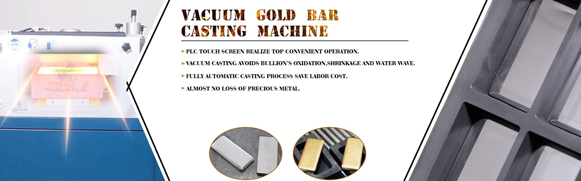 jewelry machinery for god bar making