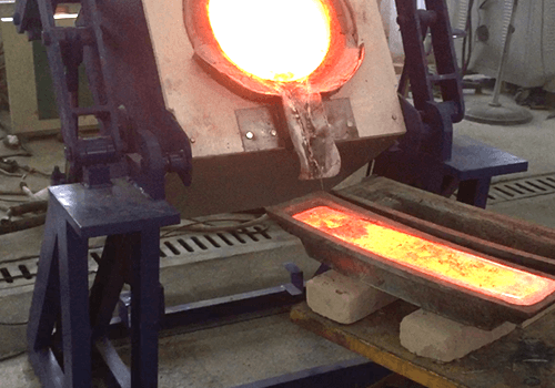 Electric Induction Furnace working onsite