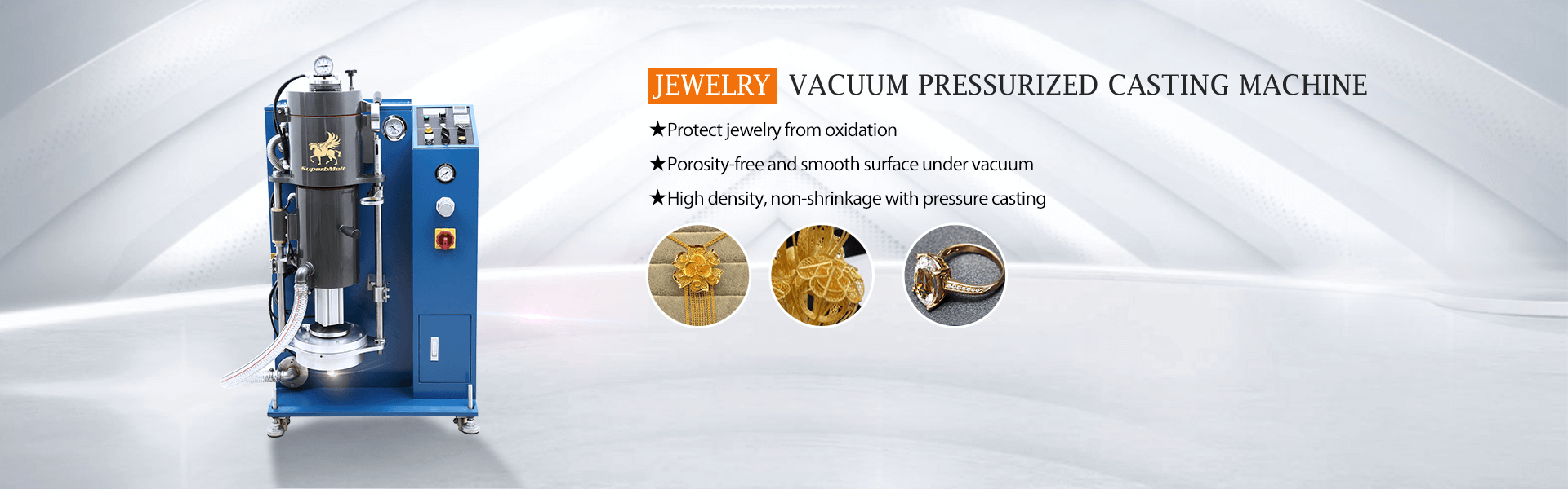 jewelry machinery: vacuum gold casting machine