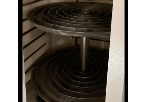 rotating burnout oven