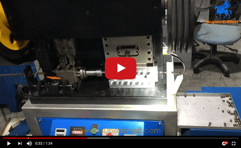 Hollow ball making machine