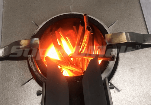 Small Induction Furnace working onsite