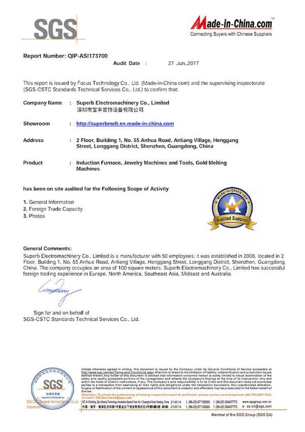 Superbmelt certificate
